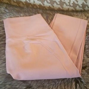 Fabletics High Waisted Leggings Light Pink Small